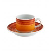 Mandarin - Chávena Café com Pires Emp. 9cl Orange