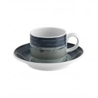 Mandarin - Chávena Café com Pires Emp. 9cl Grey